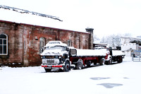 Commers in snow