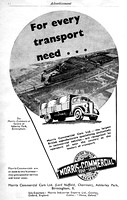 1937 Morris-Commercial advertisement